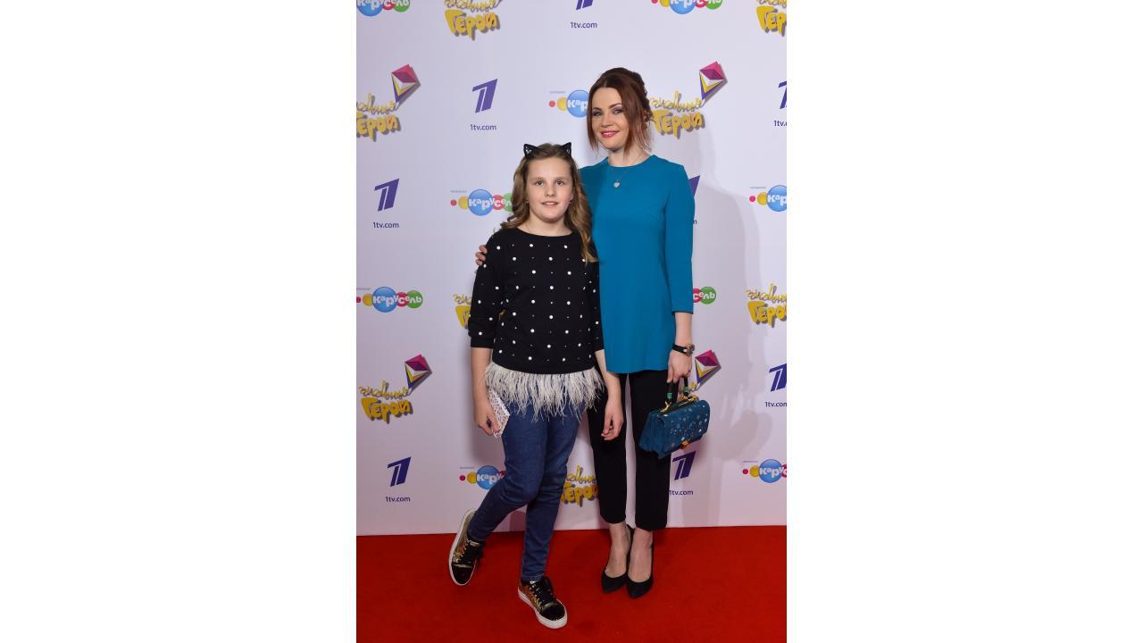 Екатерина Вуличенко с дочкой