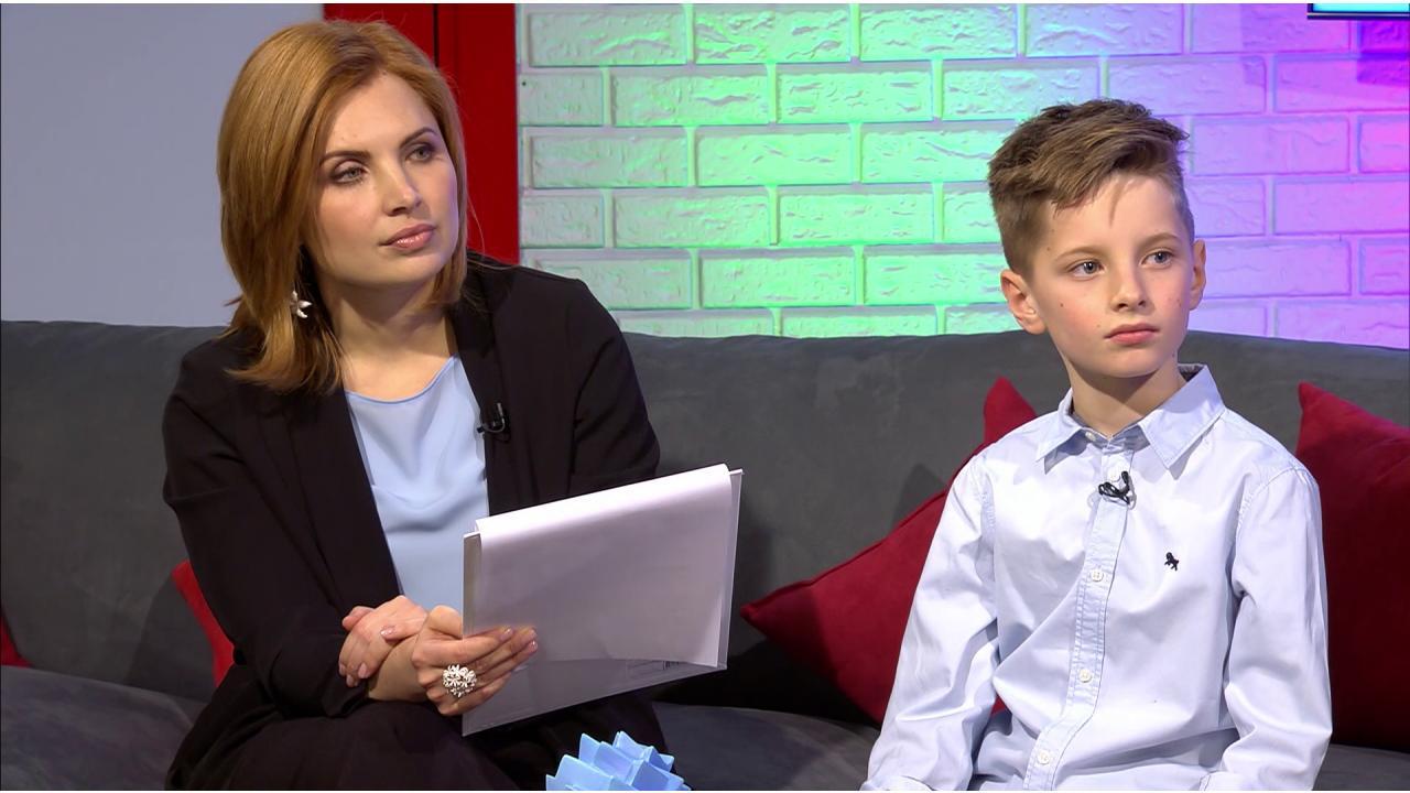Главный редактор телеканала «О!» Анна Шнайдер и ведущий Иван Пивоваров