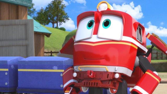Роботы-поезда. Серия 14