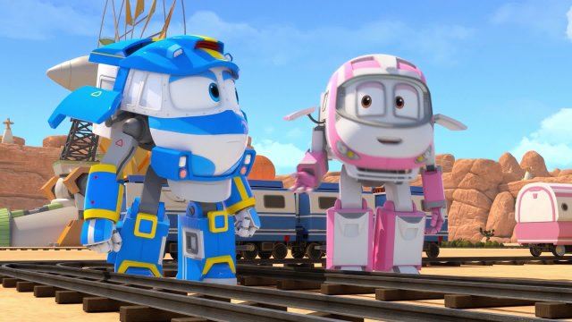 Роботы-поезда. Серия 13