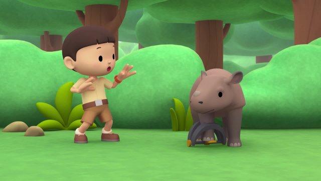 Рейнджер Лео и дикая природа. Суматранский носорог